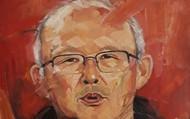 Bức vẽ chân dung HLV Park Hang-seo được đấu giá với hơn 100 triệu đồng