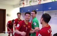 Clip ĐT Việt Nam ăn mừng trong phòng thay đồ sau chiến thắng nghẹt thở trước ĐT Jordan
