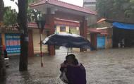 Học sinh nhiều trường mầm non, phổ thông ở Nghệ An nghỉ học do mưa lớn