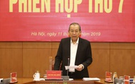 Phó Thủ tướng Thường trực Trương Hòa Bình chủ trì phiên họp Ban Chỉ đạo Cải cách tư pháp Trung ương
