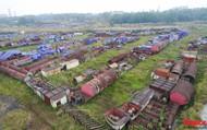 Sự hoang tàn, đắp chiếu bên trong dự án 8.100 tỉ đồng của Công ty Gang thép Thái Nguyên nhìn từ Flycam