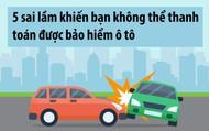 5 sai lầm khiến bạn không thể thanh toán được bảo hiểm ô tô