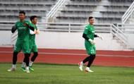 Clip: Bộ ba thủ thành ĐT Việt Nam thi tâng bóng
