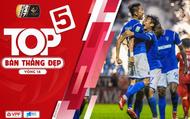 """Top 5 bàn thắng đẹp vòng 14 V-League 2019: Tú """"ngựa"""" dẫn đầu cùng siêu phẩm vào lưới CLB Sài Gòn"""