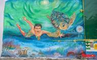 Sau 2 năm hoàn thiện, Làng bích họa Lý Sơn hút hồn du khách thập phương đến tham quan
