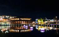 Thắp sáng 7 đài sen mùa Vu Lan tại Công viên Ấn tượng Hội An