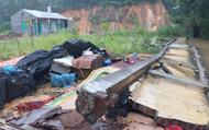 Thái Nguyên: Mưa lớn làm đổ tường khiến 3 người tử vong tại chỗ