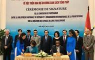 Ký kết Thỏa thuận hợp tác, triển khai Dự án Không gian sách tiếng Pháp tại Việt Nam