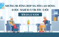 Infographic: Những trường hợp người lao động được nghỉ hưu trước tuổi tối đa 05 năm