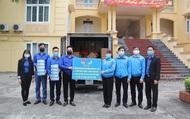 Hội Liên hiệp Thanh niên Việt Nam tặng 10.000 khẩu trang y tế cho xã Sơn Lôi