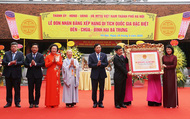 Đền - chùa - đình Hai Bà Trưng Hà Nội đón Bằng Di tích quốc gia đặc biệt