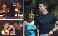 Ronaldo và bạn gái lại khiến dân tình ghen tị: Tay trong tay dạo biển, ăn tối lãng mạn