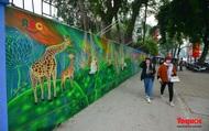 Khánh thành dự án tranh tường 'Môi trường sạch-Hành tinh xanh' tại Hà Nội