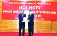 Phó Bí thư Đảng bộ Khối doanh nghiệp Trung ương làm Phó Bí thư Tỉnh ủy Lào Cai
