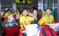 Đoàn thể thao Olympic trẻ Việt Nam về nước sau kỳ Đại hội thành công vượt ngoài kỳ vọng