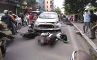Vụ tai nạn liên hoàn ở Hà Nội khiến mạng xã hội sôi sục cuối giờ chiều chủ nhật