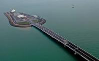 """""""Vạn lý trường thành"""" trên biển: Siêu cầu Trung Quốc tái hiện một kiệt tác thế giới"""