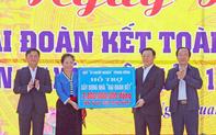 Phó Thủ tướng Vương Đình Huệ dự Ngày hội Đại đoàn kết cùng bà con nhân dân xóm Tân Lập 1,  Nghi Lộc (Nghệ An)