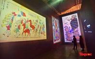 Người dân thủ đô thích thú trải nghiệm tranh Hàng Trống truyền thống qua góc nhìn công nghệ  3D hiện đại