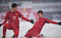 Bàn thắng 'Cầu vồng trong tuyết' của Quang Hải đang đè bẹp đối thủ để tiến tới là biểu tượng giải U23 châu Á