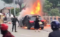 Khởi tố vụ nữ tài xế đi giày cao gót lái xe ô tô Mercedes gây tai nạn liên hoàn khiến 1 người tử vong ở Lê Văn Lương