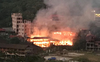 Cháy lớn tại khu du lịch homestay Pác Ngòi, Bắc Kạn