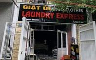 Tiệm giặt ủi bốc cháy, người đàn ông nước ngoài nhảy từ tầng hai xuống bị thương