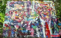 Chiêm ngưỡng những bức tranh của họa sỹ Việt vẽ Chủ tịch Kim Jong Un và Tổng thống Donal Trump