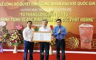 Bình gốm Đầu Rằm và Hộp vàng Ngọa Vân - Yên Tử được công nhận là Bảo vật quốc gia