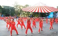 Đồng diễn văn hóa, thể thao nhân kỷ niệm 129 năm Ngày sinh Chủ tịch Hồ Chí Minh