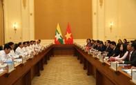 Phó Thủ tướng Vương Đình Huệ hội đàm với Phó Tổng thống Myanmar