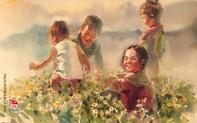 """Cảm nhận tiếng reo vui của tâm hồn trẻ thơ trong """"Địu chữ qua Cổng trời"""""""