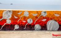 Ngắm nhìn con đường bích họa ven biển đầy sống động ở đảo Lý Sơn