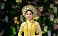 Hoa hậu Myanmar quyến rũ trong áo dài của NTK Kenny Thái