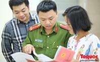 Lực lượng Công an Thủ đô vui tươi, tình nguyện phục vụ nhân dân trong ngày Chủ Nhật