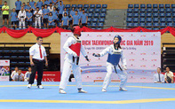Gần 300 vận động viên tham gia tranh tài Giải Vô địch Taekwondo toàn quốc 2019