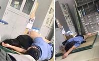 Nghệ An: Xác minh hình ảnh bác sĩ trực ôm nữ sinh viên ngủ trong bệnh viện