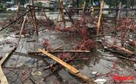 Hà Nội đổ mưa lớn: Đào, quất giảm giá mạnh ngày 30 Tết, cây đào giá cả triệu bạc biến thành củi chỉ sau một ngày