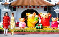 Hàng ngàn du khách tới 'check in' lễ hội hoa tại Sun World Danang Wonders