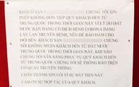 Sợ dịch bệnh, một khách sạn ở Đà Nẵng dán bảng thông báo ngưng phục vụ khách Trung Quốc