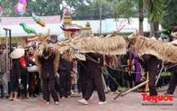 """Độc đáo lễ hội """"Trâu rơm, bò rạ"""" ở đồng bằng sông Hồng"""