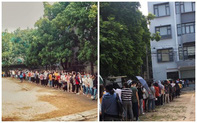 Trường ĐH ham học nhất Hà Nội: Sinh viên xếp hàng dài chờ đến lượt mượn sách