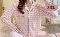 Chỉ từ 200k, chị em sắm được ngay pyjama dài tay ấm mà xinh