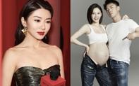 """""""Người tình"""" của Angela Baby khoe ảnh bà xã bụng bầu vượt mặt, netizen râm ran tìm thông tin bạn gái cũ là thiên kim Dior"""