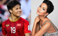 """H'Hen Niê tự nhận là """"cô"""" khi đứng cạnh cầu thủ Quang Hải"""
