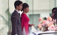 Cô dâu Viên Minh xuất hiện cùng chiếc nón lá, chờ giờ khởi hành về ra mắt họ nhà trai