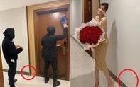 Ninh Dương Lan Ngọc khoe Valentine được tặng bó hoa to đùng nhưng vô tình lại để lộ bằng chứng chụp tại nhà riêng Chi Dân