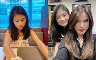 """Chỉ một khoảnh khắc bị mẹ """"chụp trộm"""", bé Devon con gái Trương Ngọc Ánh lại khiến dân tình ngỡ ngàng vì quá xinh đẹp"""