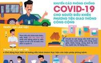 Bộ Y tế: 4 lưu ý phòng dịch COVID- 19 đối với người điều khiển xe công cộng, xe sử dụng kết nối