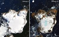 NASA ghi lại hình ảnh chỏm băng ở Nam Cực tan chảy trong đợt nóng kỷ lục vừa qua